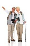 Paarbesichtigungs-Zeigerichtung Stockfoto