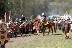 Paard dat voor de slag voorbereidingen treft Royalty-vrije Stock Afbeeldingen