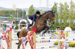 Paard die - Julia Hargreaves springen Royalty-vrije Stock Afbeeldingen