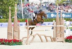 Paard die - Julio Arias springen Stock Afbeeldingen
