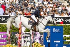 Paard die - Katharina Offel springen Stock Afbeeldingen