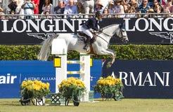 Paard die - Katharina Offel springen Royalty-vrije Stock Afbeeldingen