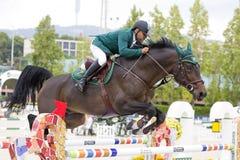 Paard die - Ramzy Hamad Al Duhami springen Royalty-vrije Stock Fotografie