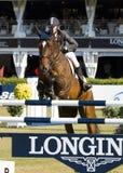 Paard die - Rutherford Latham springen Royalty-vrije Stock Fotografie