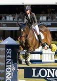 Paard die - Rutherford Latham springen Stock Fotografie