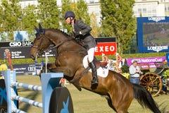 Paard die - Rutherford Latham springen Stock Foto