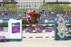 Paard die - Taizo Sugitani springen Royalty-vrije Stock Afbeelding