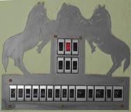 Paard en dolfijn op schakelaarraad Stock Afbeeldingen