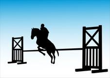 Paard en jockey Stock Foto's
