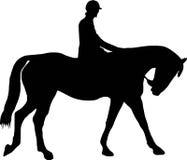 Paard en jockey Royalty-vrije Stock Afbeeldingen