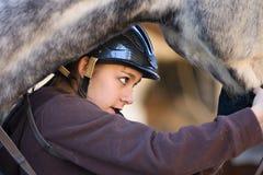 Paard en ruiter Royalty-vrije Stock Afbeeldingen