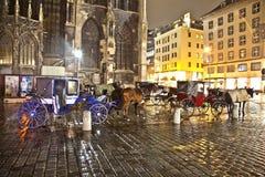 Paard-gedreven vervoer bij royalty-vrije stock foto