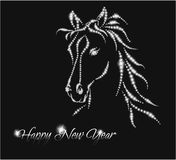 Paard. Gelukkig nieuw jaar 2014. Stock Afbeeldingen