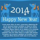 Paard. Gelukkig nieuw jaar 2014. Vectoreps 10. Royalty-vrije Stock Afbeelding