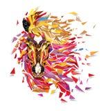 Paard Geometrisch patroon; royalty-vrije illustratie