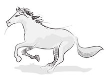 Paard getrokken llustration realistische schets Vector Illustratie