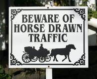 Paard getrokken verkeersteken Royalty-vrije Stock Fotografie
