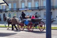 Paard getrokken vervoer Great Yarmouth. Stock Afbeeldingen