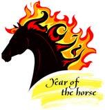 Paard met manen van vurig Royalty-vrije Stock Fotografie