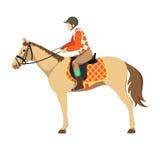 Paard met Ruiter Royalty-vrije Stock Afbeeldingen