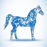 Paard met vleugels, vectorillustratie Stock Foto
