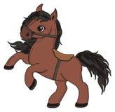 Paard met zadel royalty-vrije illustratie