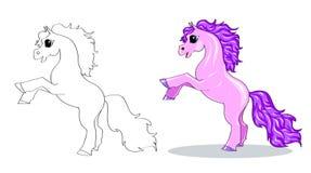 Paard in motie Stock Foto's