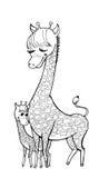 Paard mum stock illustratie