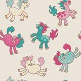 Paard-naadloos Stock Afbeeldingen