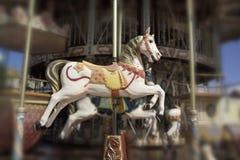 Paard op carrousel stock foto's