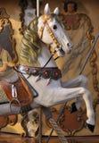 Paard op de Carrousel van het Kermisterrein royalty-vrije stock afbeelding