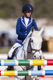 Paard Rider Show Jumping Royalty-vrije Stock Fotografie