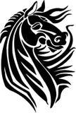 Paard in stammenstijl - vectorillustratie. Stock Afbeelding