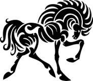 Paard in stammenstijl - vectorillustratie. Royalty-vrije Stock Afbeeldingen