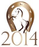 Paard, symbool van het jaar van 2014 Royalty-vrije Stock Afbeelding