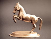 Paard van brons   stock fotografie