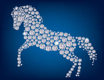 Paard van diamanten Stock Foto's