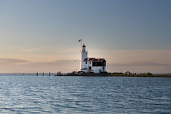 "The Paard van Marken lighthouse, translated as ""Horse of Marken"" Stock Images"