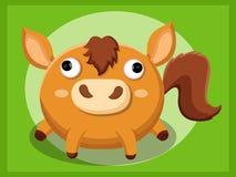 Paardbeeldverhaal Grappig beeldverhaal en vector dierlijke karakters Royalty-vrije Stock Foto's