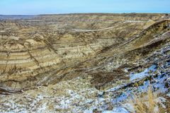 Paarddief Canyon, Canadese Badlands, Drunheller, Alberta, Canada royalty-vrije stock foto's