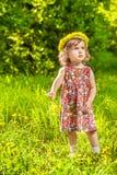 Paardebloem krullend meisje Stock Foto's