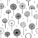 Paardebloemen, naadloos patroon voor uw ontwerp vector illustratie