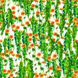 Paardebloemen van waterverf de bloemen naadloze patterny ellow Uitstekende retro de zomerachtergrond met wildflowers royalty-vrije illustratie