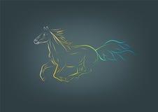 Paardembleem Royalty-vrije Stock Afbeeldingen