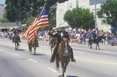 Paarden in 4 de Parade van Juli, Vreedzame Palissaden, Californië Royalty-vrije Stock Afbeeldingen