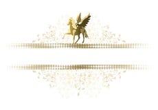 Paarden en vleugels Stock Foto