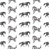Paarden naadloze achtergrond Royalty-vrije Stock Afbeelding