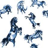 Paarden naadloze achtergrond Royalty-vrije Stock Fotografie