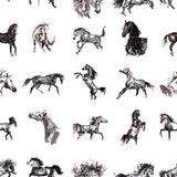 Paarden naadloze achtergrond Stock Foto