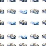 Paarden naadloze achtergrond Royalty-vrije Stock Foto's